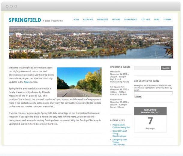 Сайт города Спрингфилд на WordPress.com