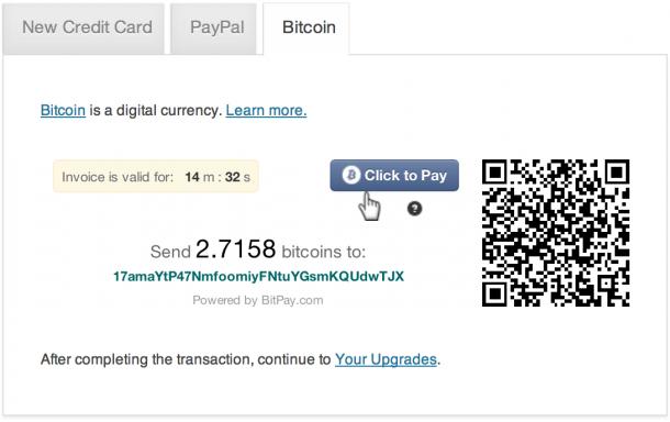 Bitcoin в WordPress.com