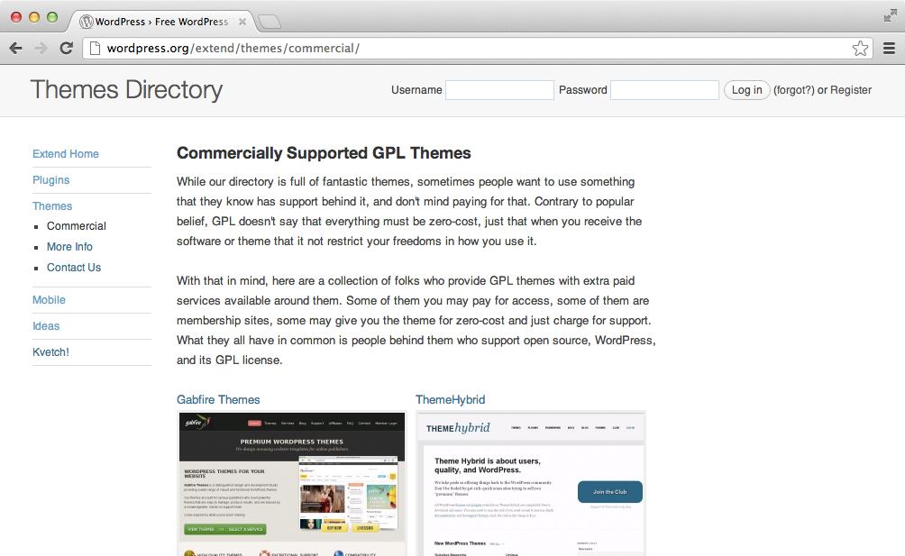 Коммерческие темы для WordPress