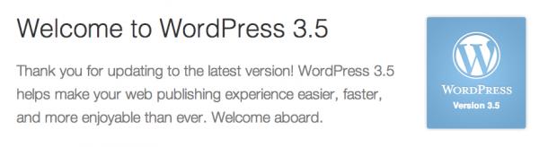 WordPress 3.5 RC2