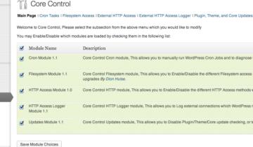 WordPress Core Control