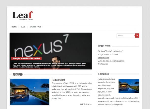 Тема для WordPress Leaf