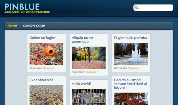 Темя для WordPress PinBlue