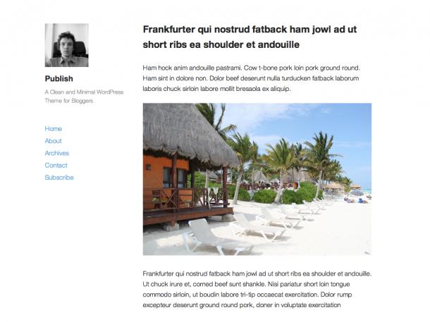 Тема для WordPress Publish