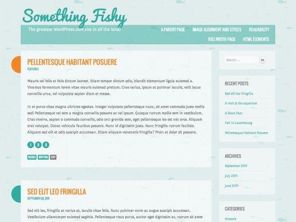 Тема для WordPress Something Fishy