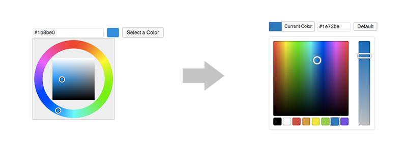 Выбор цвета в WordPress 3.5