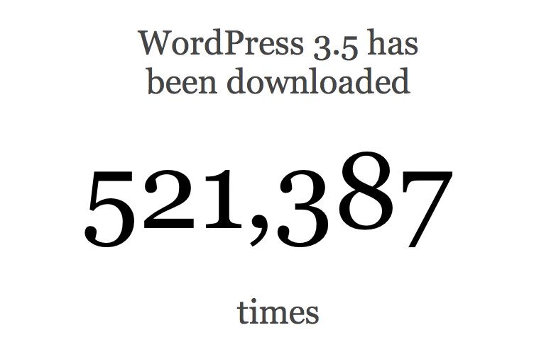 Счётчик скачиваний WordPress 3.5