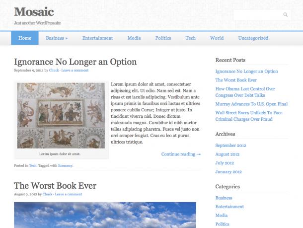 Тема для WordPress Mosaic