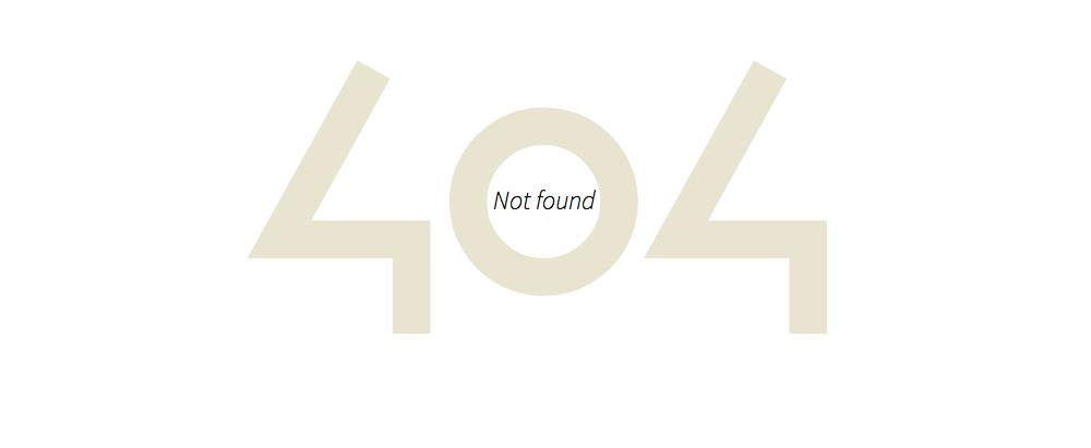 Страница 404 в Twenty Thirteen