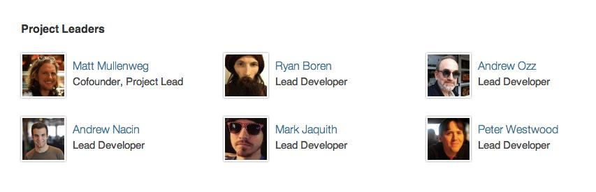 Разработчики WordPress