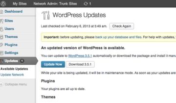 Обновления WordPress