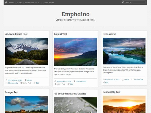 Тема для WordPress Emphaino