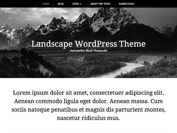 Тема для WordPress Landscape