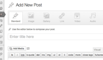 Форматы записей в WordPress 3.6