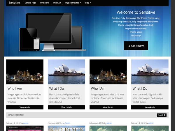 Тема для WordPress Sensitive