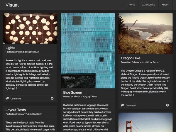 Тема для WordPress Visual