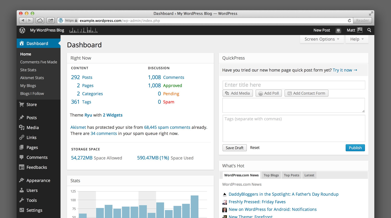Новый внешний вид WordPress.com
