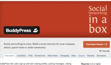 BuddyPress 1.8