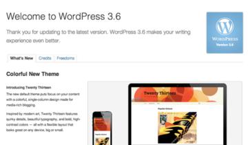 Что нового в WordPress 3.6