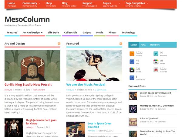MesoColumn для WordPress