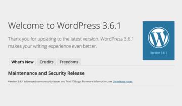 WordPress 3.6.1