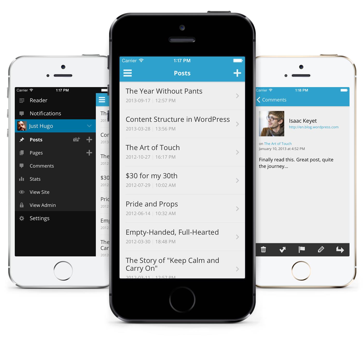 WordPress для iOS 7