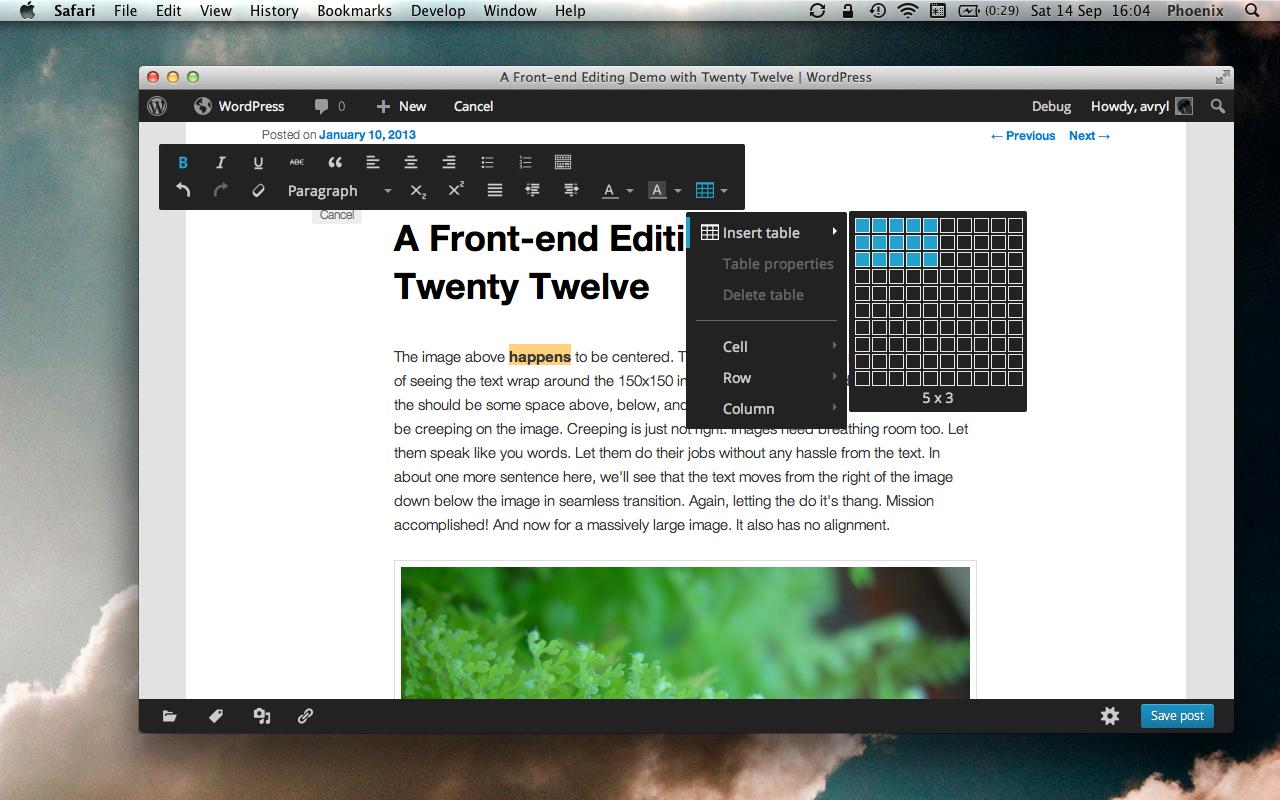Расширенный режим редактора