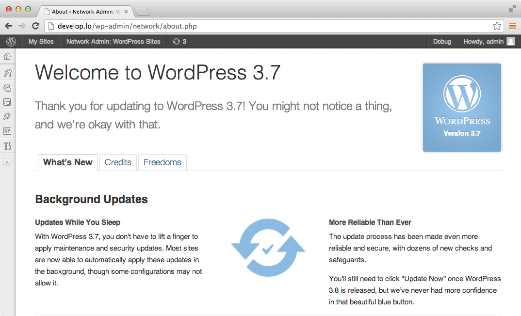 Первый релиз-кандидат WordPress 3.7