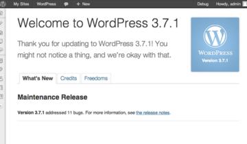 WordPress 3.7.1