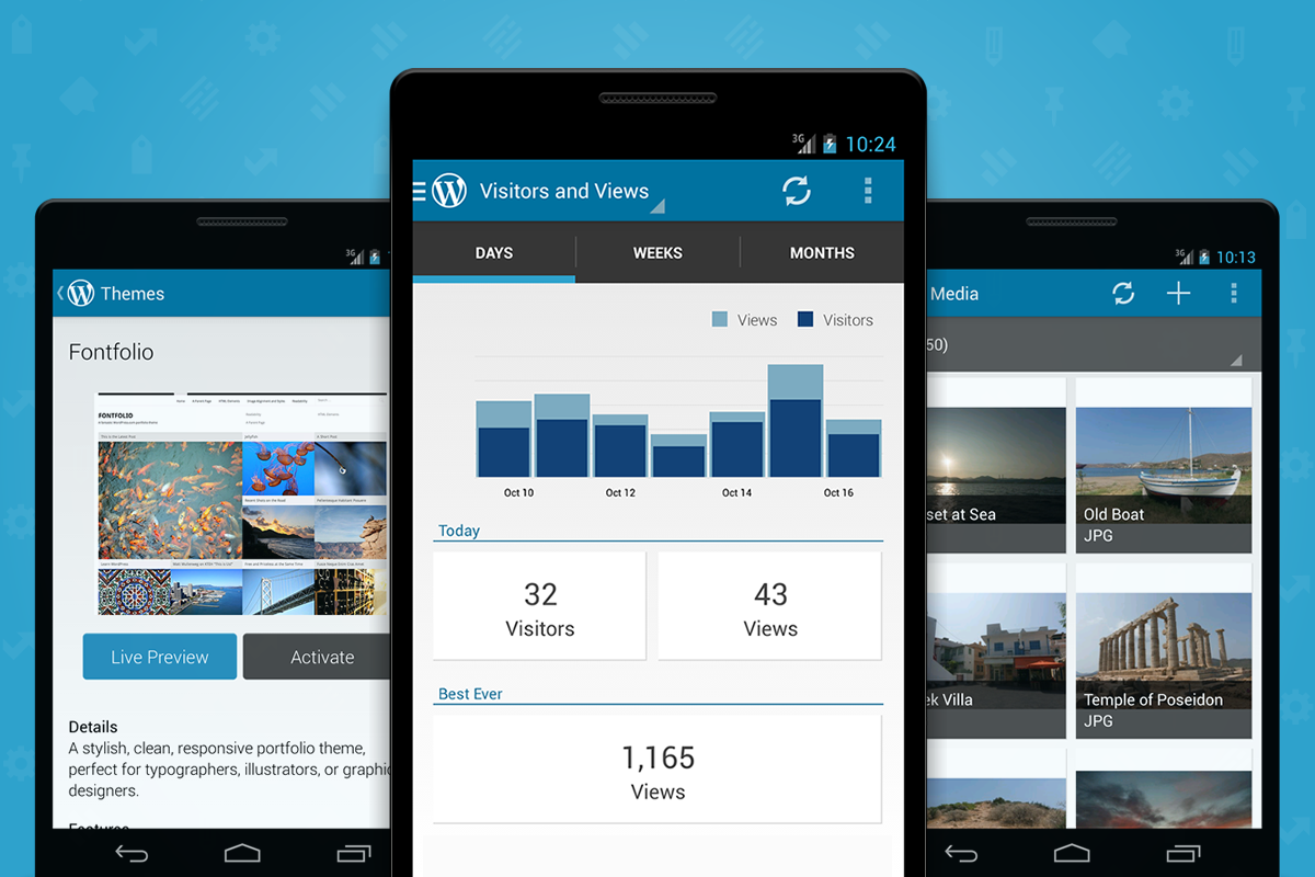 Новая версия WordPress для Android