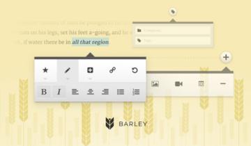 Редактор Barley для WordPress