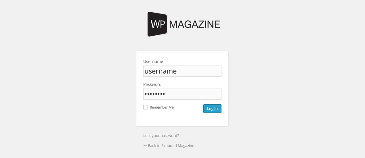 Логотип на форме входа в WordPress