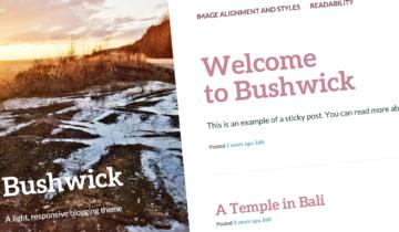Тема для WordPress Bushwick