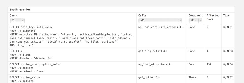 Список SQL-запросов