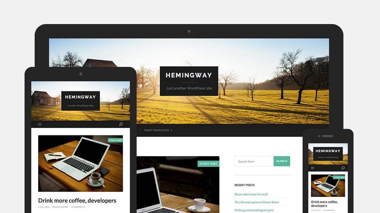 Тема Hemingway для WordPress