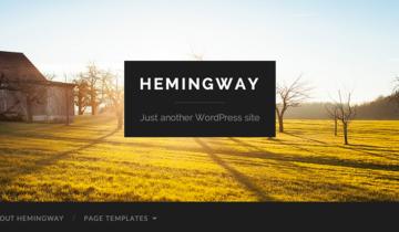 Тема для WordPress Hemingway