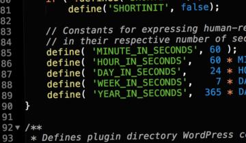 Константы для работы со временем в WordPress