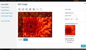 Изображения в WordPress 3.9