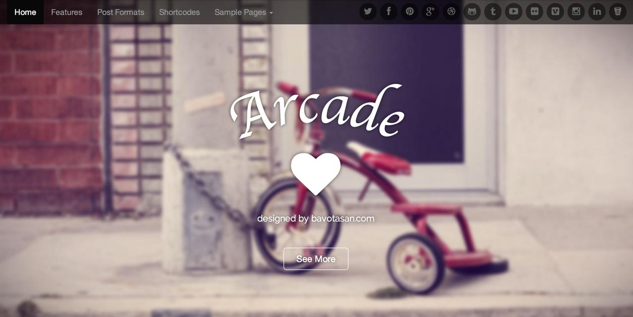 Бесплатная тема Arcade Basic