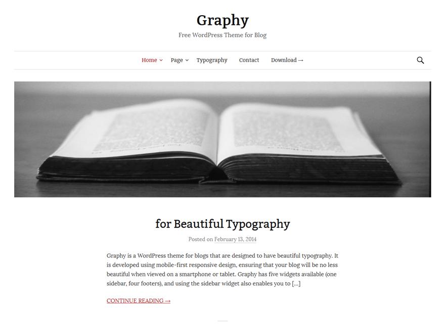 Тема Graphy