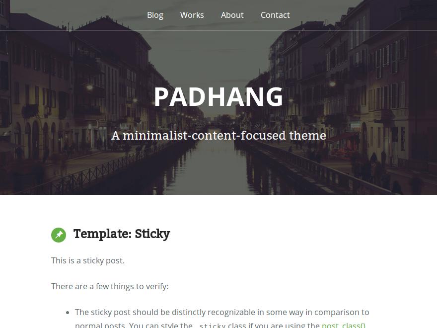 Тема Padhang