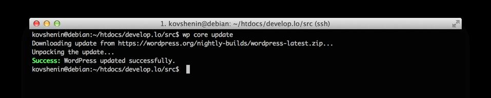 Работа с WordPress с помощью командной строки WP-CLI