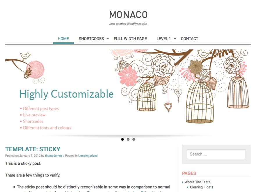 Тема для WordPress Monaco