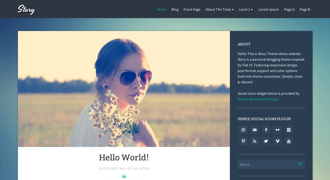 Тема для WordPress Story