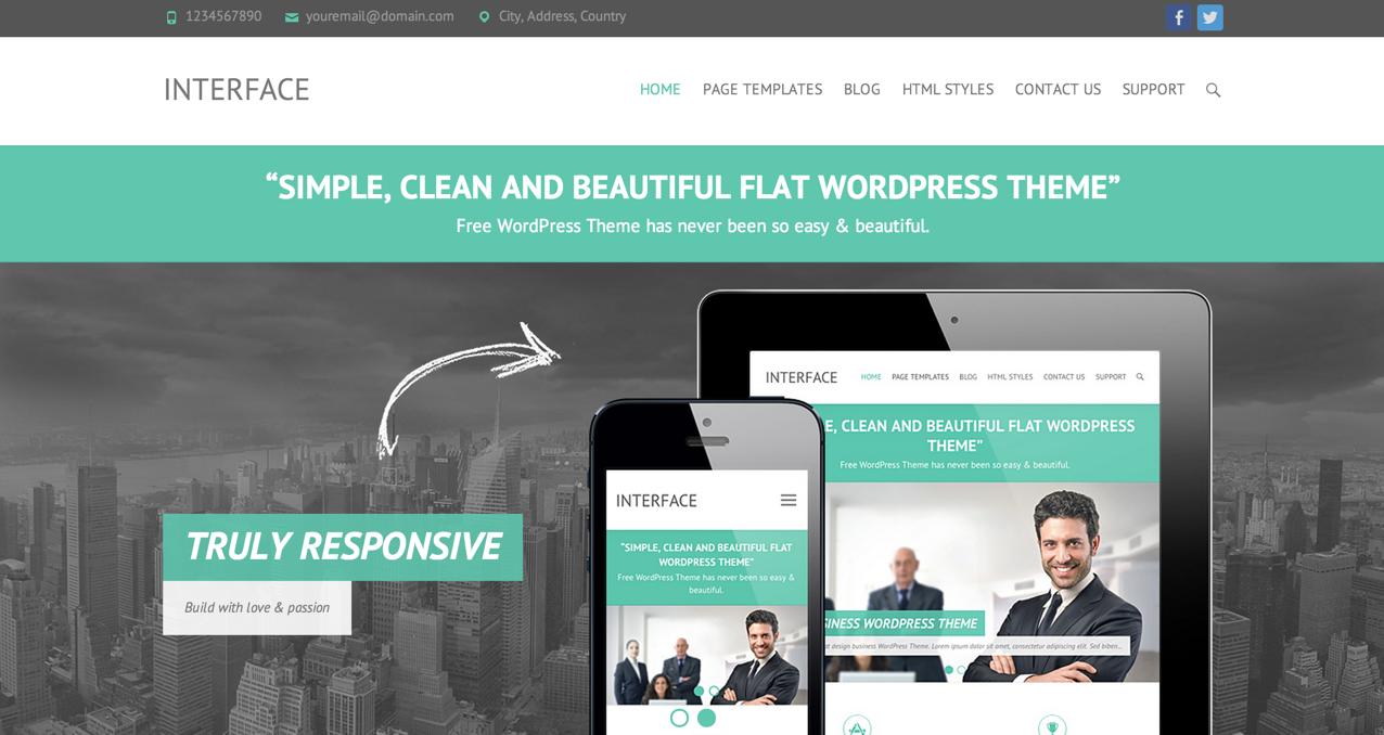 Тема для WordPress Interface