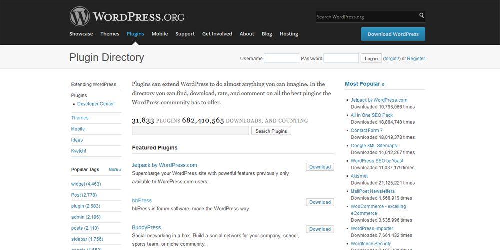 Директория плагинов на WordPress.org