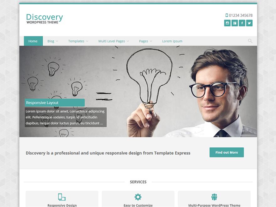 Тема для WordPress Discovery