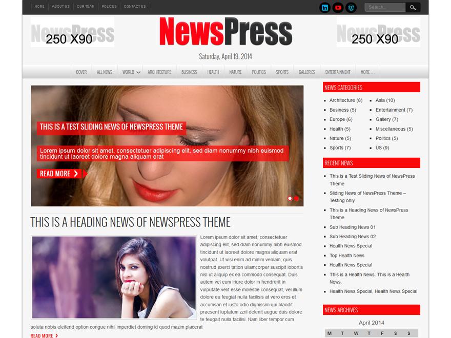 Тема NewsPress Lite
