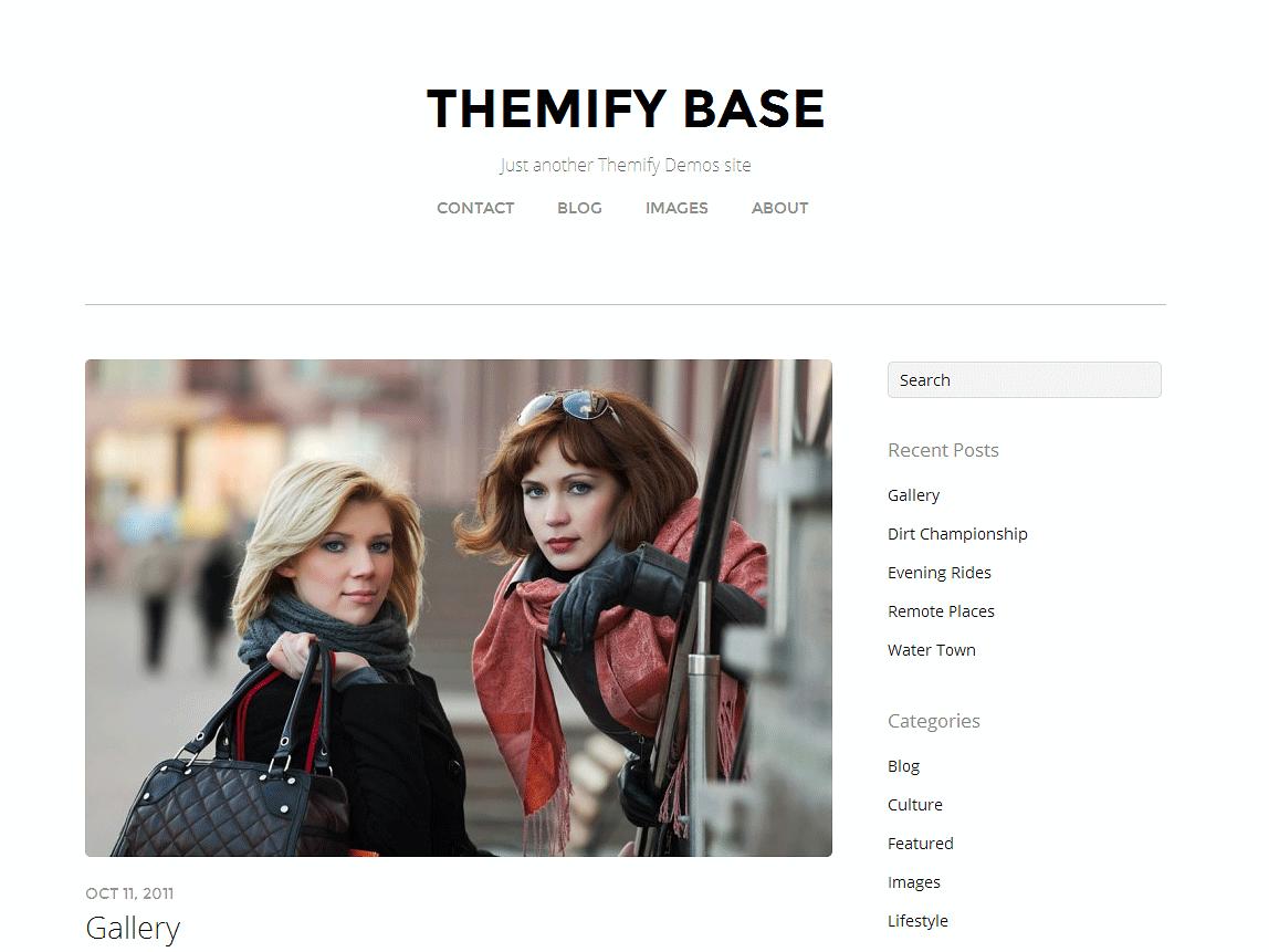 Бесплатная тема Themify Base