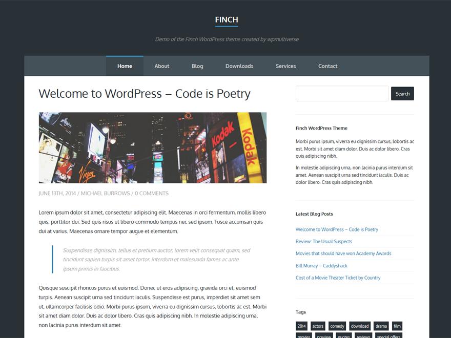Тема для WordPress Finch